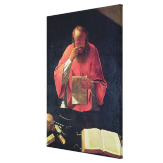 St.Jerome reading Canvas Print