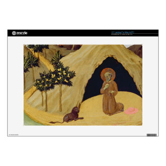 St. Jerome with the lion, 1436 (tempera on panel) Laptop Decal
