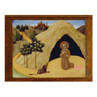 St. Jerome with the lion, 1436 (tempera on panel) Postcard