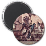 St. Jerome With The Lion In The Monastery Detail Refrigerator Magnet