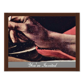 St. Jerome, Writing Detailed By Michelangelo Meris Custom Announcements