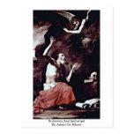 St Jerome y arcángel de Jusepe De Ribera Postal