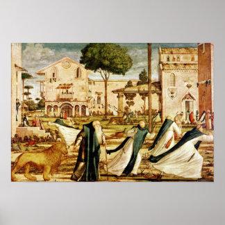 St Jerome y león en el monasterio, 1501-09 Impresiones