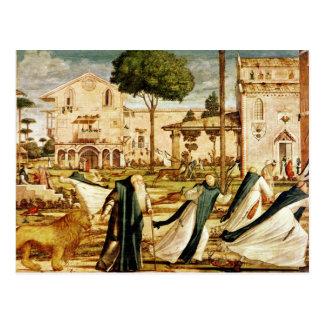 St Jerome y león en el monasterio, 1501-09 Postal