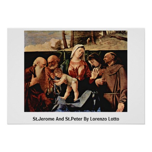 St Jerome y San Pedro de Lorenzo Lotto Impresiones