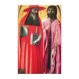 St Jerome y St. John el Bautista, c.1428-29 Lienzo Envuelto Para Galerias