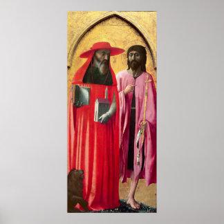 St Jerome y St. John el Bautista, c.1428-29 Póster