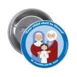 St. Joachim and St. Anne 2 Inch Round Button