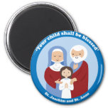 St. Joachim and St. Anne 2 Inch Round Magnet