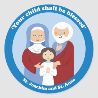 St. Joachim and St. Anne Classic Round Sticker