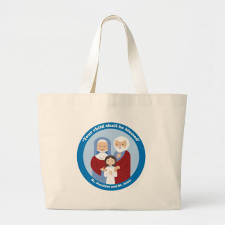 St. Joachim and St. Anne Large Tote Bag
