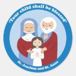 St. Joachim and St. Anne Round Sticker
