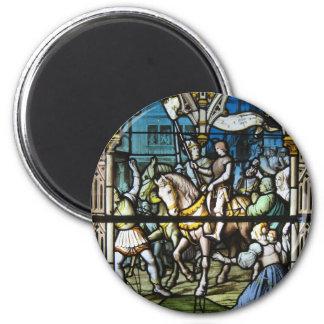 St. Joan en Orleans Imán Redondo 5 Cm