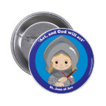 St. Joan of Arc 2 Inch Round Button