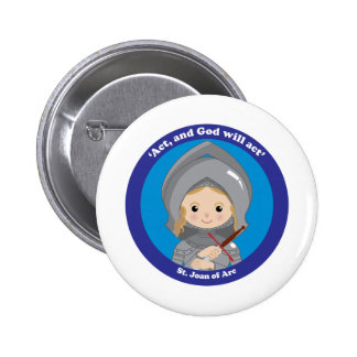 St. Joan of Arc Button
