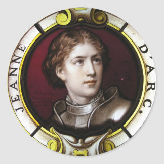 St. Joan of Arc Classic Round Sticker