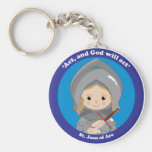 St. Joan of Arc Key Chain