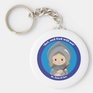 St. Joan of Arc Keychain