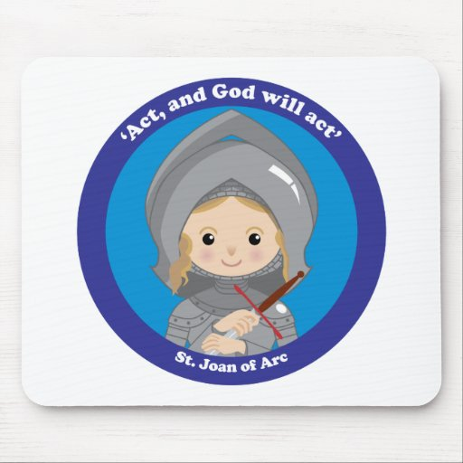 St. Joan of Arc Mouse Pad