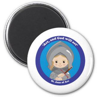 St. Joan of Arc Refrigerator Magnets