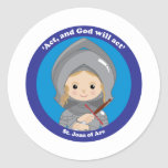 St. Joan of Arc Round Stickers