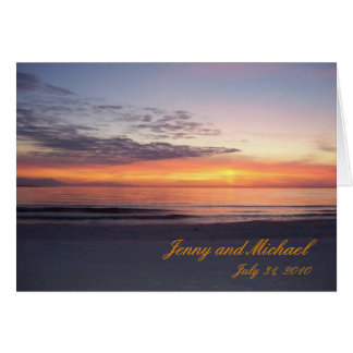 st joe beach, Jenny and Michael, July 31, 2010 Card