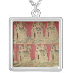 St. John and the Seven Churches of Asia Square Pendant Necklace