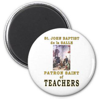 ST. JOHN BAPTIST de la SALLE 2 Inch Round Magnet