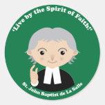 St. John Baptist de La Salle Pegatina Redonda