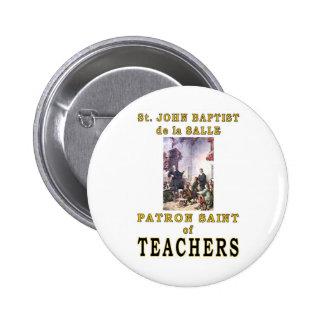 ST. JOHN BAPTIST de la SALLE Pin Redondo De 2 Pulgadas
