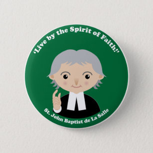 St. John Baptist de La Salle Pinback Button