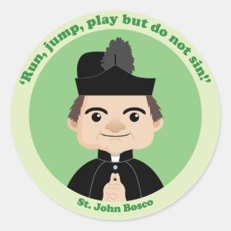 St. John Bosco Pegatinas Redondas