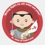 St. John Capistrano Etiqueta Redonda