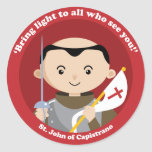 St. John Capistrano Pegatina Redonda