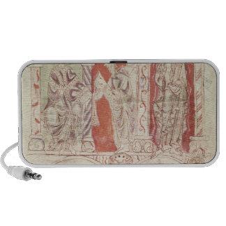 St. John Cassian writing and monks offering iPhone Speaker