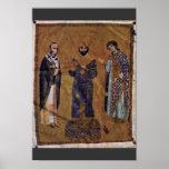 St. John Chrysostom And The Emperor Nicephorus Bot Poster