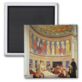 St John Chrysostom  exiled by Empress Eudoxia 2 Inch Square Magnet