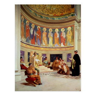 St John Chrysostom  exiled by Empress Eudoxia Postcard