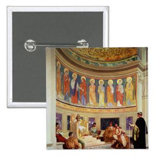 St John Chrysostom exiliado por la emperatriz Eudo Pin Cuadrada 5 Cm