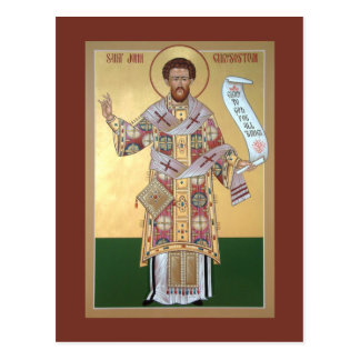 St. John Chrysostom Prayer Card Postcards