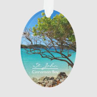 St. John Cinnamon Bay Beach Oval Ornament