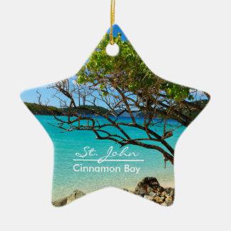 St. John Cinnamon Bay Ceramic Star Ornament