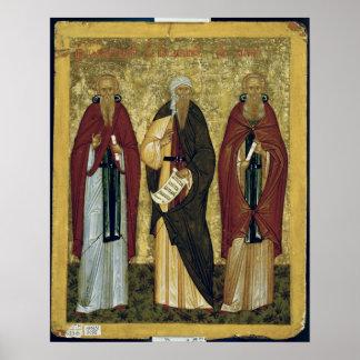 St. John Climacus St. John de Damasco Póster