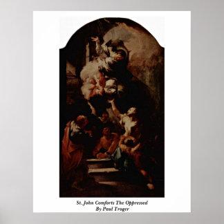 St. John conforta opreso por Paul Troger Impresiones
