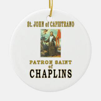 ST JOHN de CAPISTRANO Adorno Navideño Redondo De Cerámica