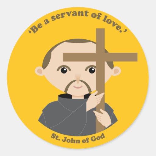 St. John de dios Etiqueta Redonda