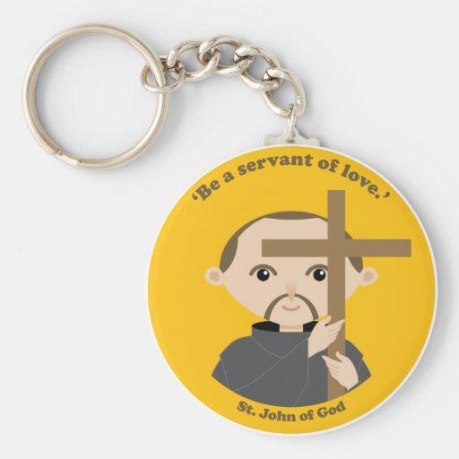 St. John de dios Llavero Redondo Tipo Pin