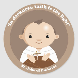 St. John de la cruz Pegatina Redonda