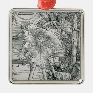 St. John Devouring the Book Metal Ornament