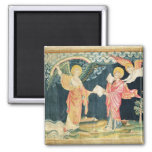 St. John Eating the Book 2 Inch Square Magnet